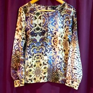 Cheetah twist blouse